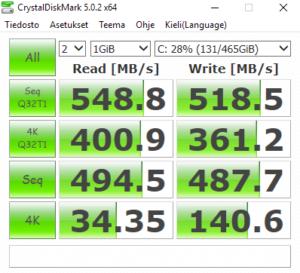 Samsung EVO 850-sarjan 500 GB SSD