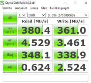 Stripe 2x3TB+2TB NTFS